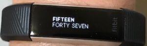 Fitbit Alta HRの文字盤画面