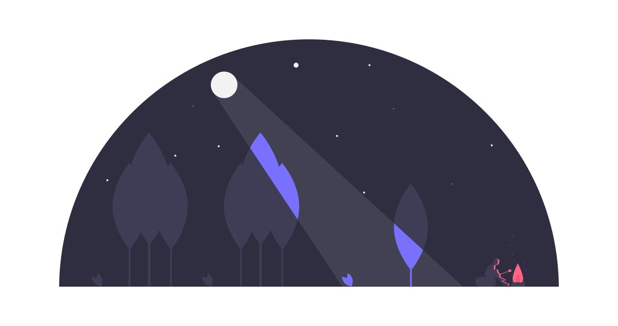 夜の月の光