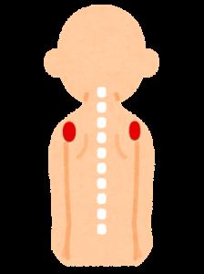 腕の付け根の背中側のポイント