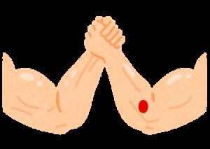 腕の側面のポイント2