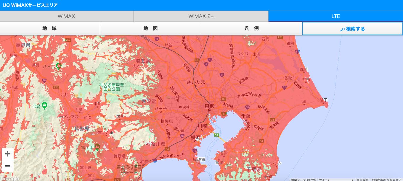 au 4G LTE利用エリア_東京周辺
