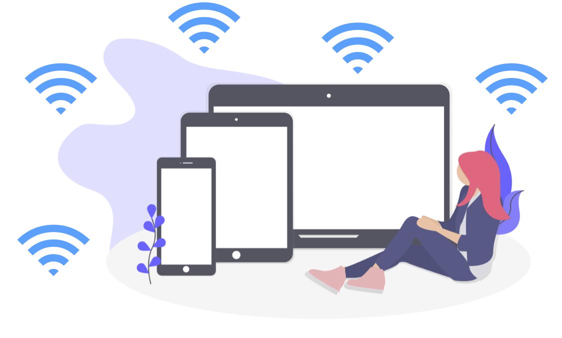 WiFiの通信イメージ